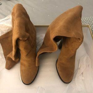 Beautiful tan suede knee high Michael Kors boots